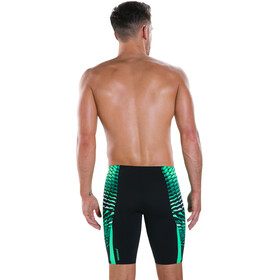 speedo Graphic Splice Jammer Men Black/Fake Green/White